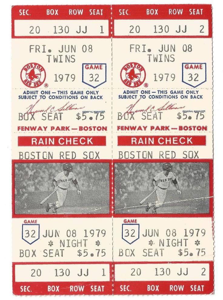 1979 BOSTON RED SOX vs MINNESOTA TWINS TICKET SET-FREE USA SHIP-STANLEY / GOLTZ #BostonRedSox