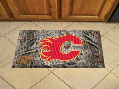 "NHL - Calgary Flames Scraper Mat 19""x30"" - Camo"
