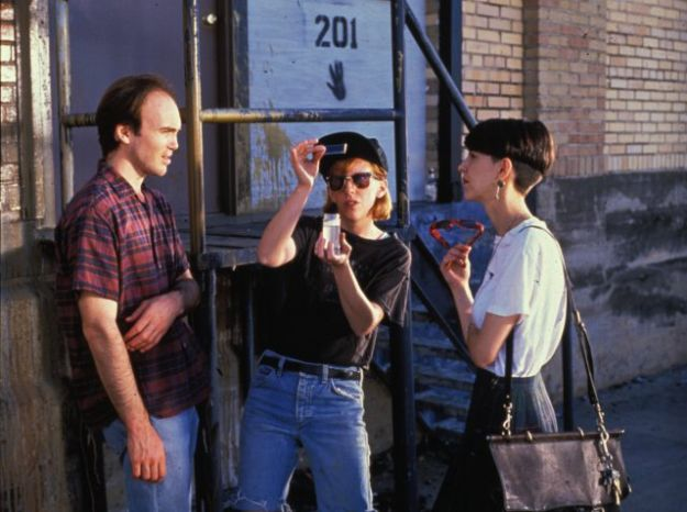 Slacker (1991)  Richard Linklater, Rudy Basquez, Jean Caffeine - Director: Richard Linklater  IMDB: Presents a day in the life in Austin, Texas among its social outcasts and misfits, predominantly the twenty-something set, using a series of linear vignettes.