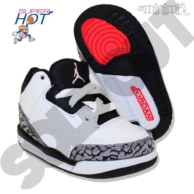 Photo Nike Air Jordan 3 retro - Baskets enfant du 19 au 26 - TD White