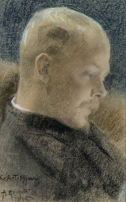 Portrait of Karl A.Tavaststjerna the Writer 1885, Albert Edelfelt (1854-1905) - pastel - Atheneum Art Museum -