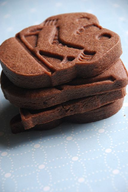 Brownie Roll Out Cookies - great for Valentine's cut out cookies.