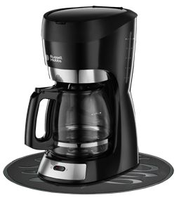 Features/Specifications Product code: 18663-56 1.5 ℓ /12 cup capacity Automatic Pause and Anti-drip system allows serving while the machine continues to brew Water tank with visible level indicator Removable filter holder for easy cleaning Hot plate to keep your coffee warm Glass carafe with flip top lid