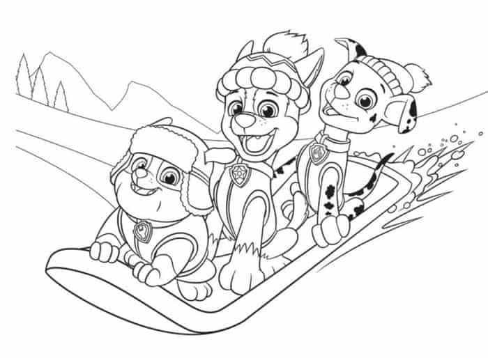 Paw Patrol Christmas Coloring Pages Paw Patrol Coloring Paw Patrol Coloring Pages Christmas Coloring Pages