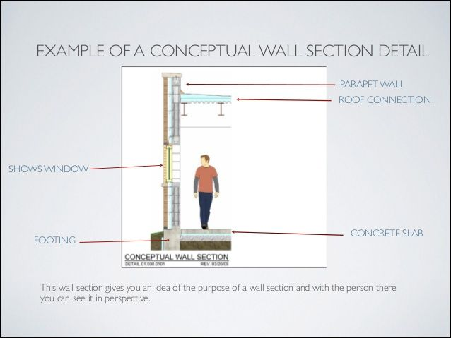 Image Result For Concrete Wall Detail Wall Section Detail Detailed Drawings Concrete