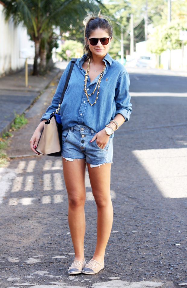 Jeans Shorts - Thassia Naves
