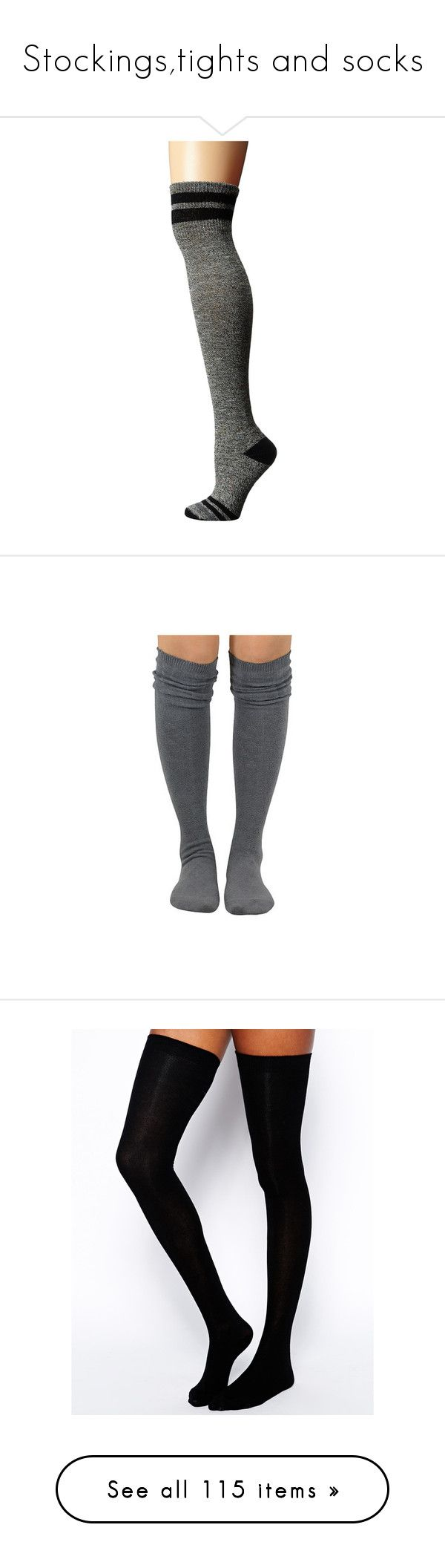 """""""Stockings,tights and socks"""" by w-illusion ❤ liked on Polyvore featuring intimates, hosiery, socks, thigh high knee socks, knee socks, tube socks, knee high socks, wool knee high socks, chunky cable knit socks and chunky cable knit thigh high socks"""