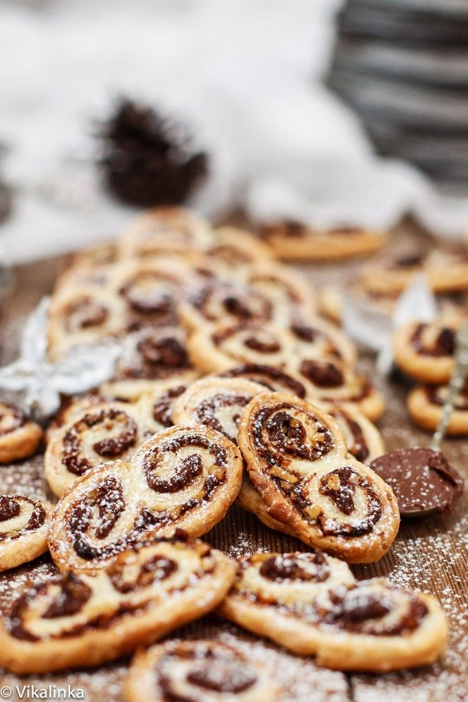 Palmiers (chocolate & nutella)