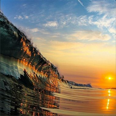 Sunset reflecting off the Wave....