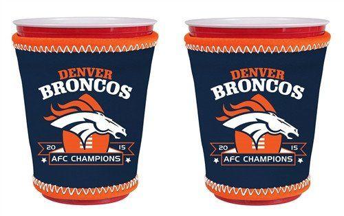 Denver Broncos 2016 AFC Champions Cup Koozie (2 Pack)
