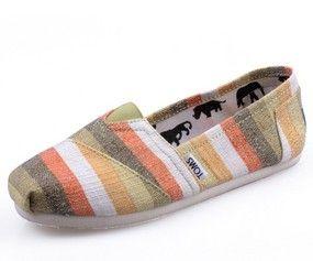 Color Zebra Toms Canvas Shoes
