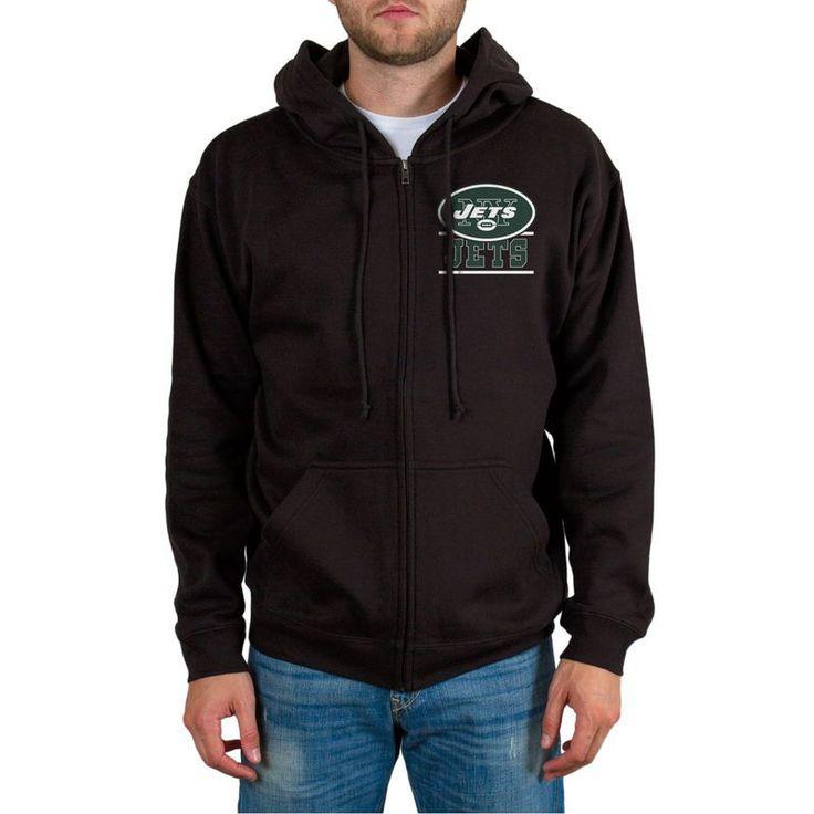 New York Jets Quarterback Full-Zip Hoodie - Black https://www.fanprint.com/licenses/new-york-jets?ref=5750