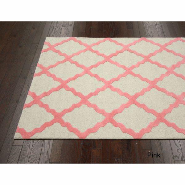 Nuloom Handmade Dotted Trellis Wool Kids Nursery Baby Pink: 69 Best Nursery Images On Pinterest