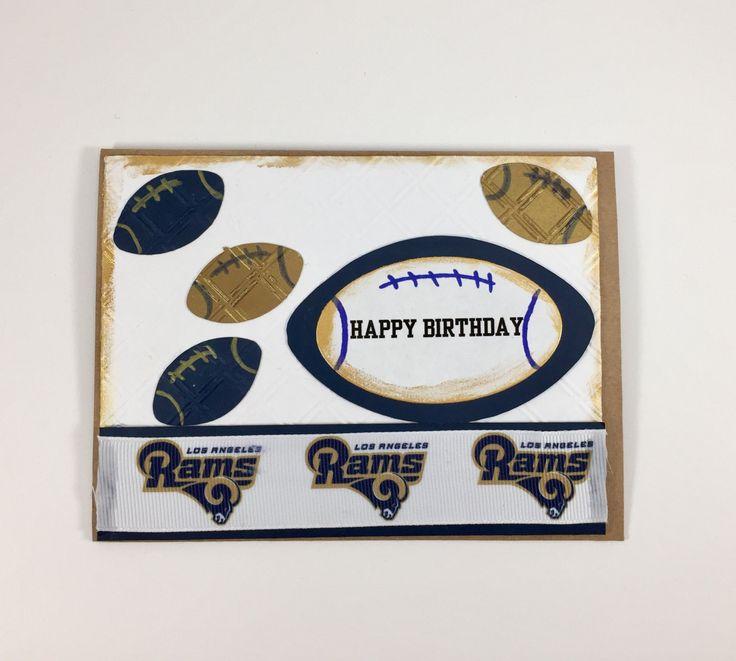 Los Angeles Rams,Los Angeles Rams card,Los Angeles Rams birthday,card of Los Angeles Rams fan,Los Angeles Rams Collectible,NFL,NFL Rams by Andreaswishcraft on Etsy