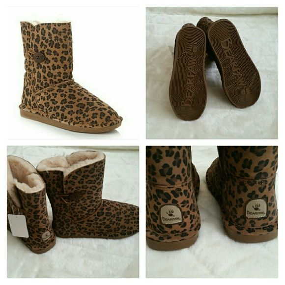 BEARPAW BOOTS SIZE 8 NEW BRAND NEW LEOPARD BEARPAW BOOTS. bearpaw Shoes