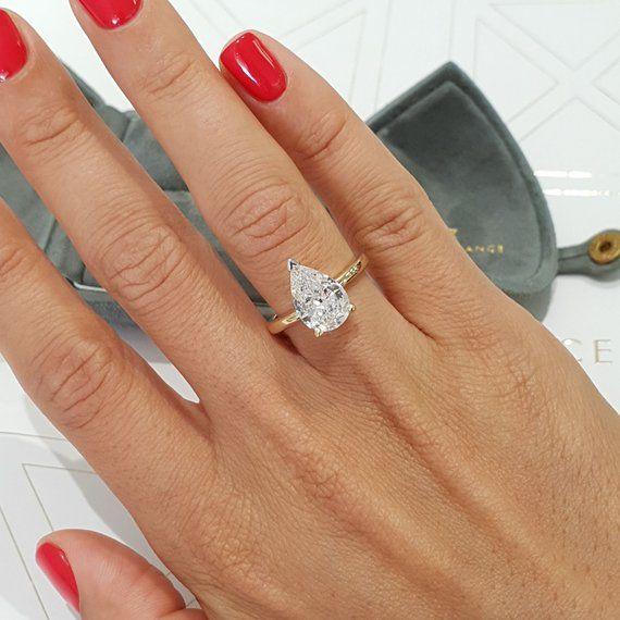 Pin By Aimee Barrett On Engagement Wedding Bands Pear Diamond Engagement Pear Engagement Ring Diamond Alternative Engagement Ring