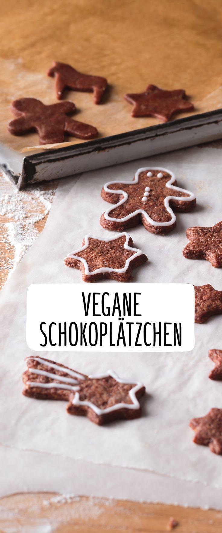 Vegane Schokoladenplätzchen   – Kuchen & Kekse (vegan, glutenfrei und gesund)
