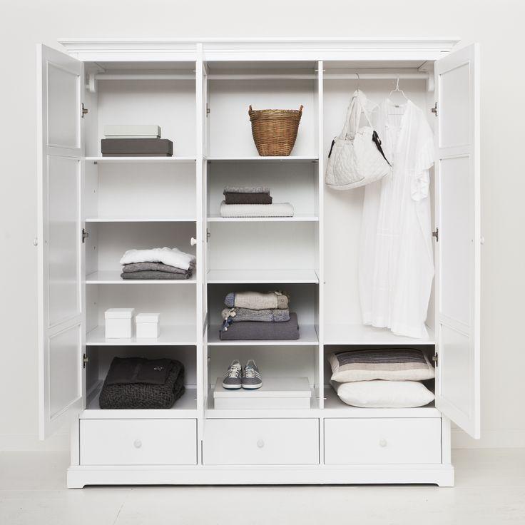 Wardrobe 3 doors white, Oliver Furniture Denmark.   www.oliverfurniture.com
