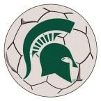Ncaa Michigan State University Cream (Ivory) 2 ft. 3 in. x 2 ft. 3 in. Round Accent Rug
