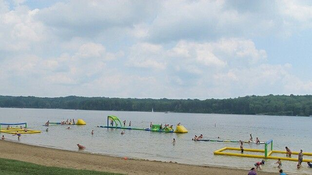 The beach at Alive festival at Atwood lake park