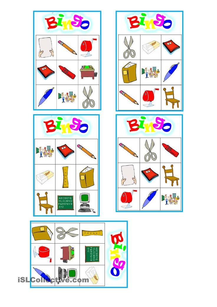 Classroom Bingo Worksheet Free Esl Printable Worksheets