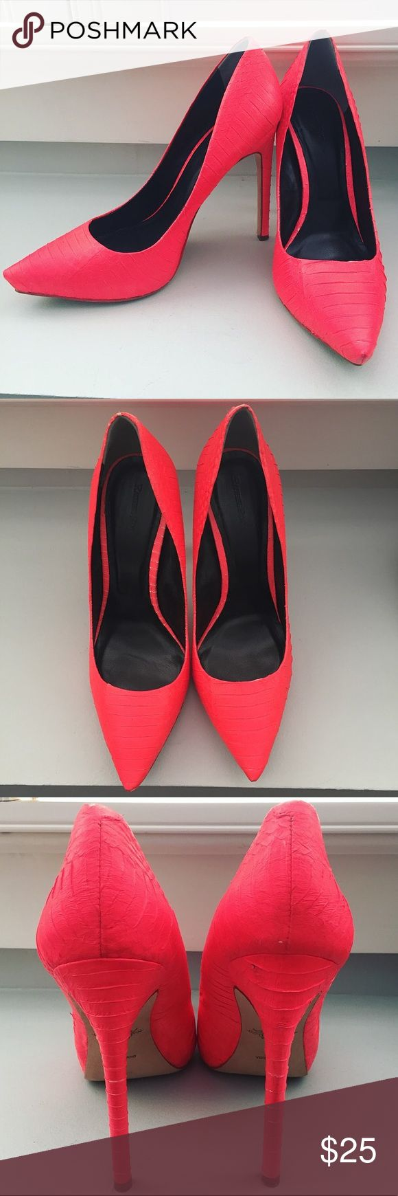 Rachel Roy Neon Pumps Rachel Roy - Size 8.5 - Neon Pink Pumps. These shoes are sure to make a statement! I️n good condition! This girl is smoke free/pet free and takes care of everything I️ own! Rachel Roy Shoes Heels