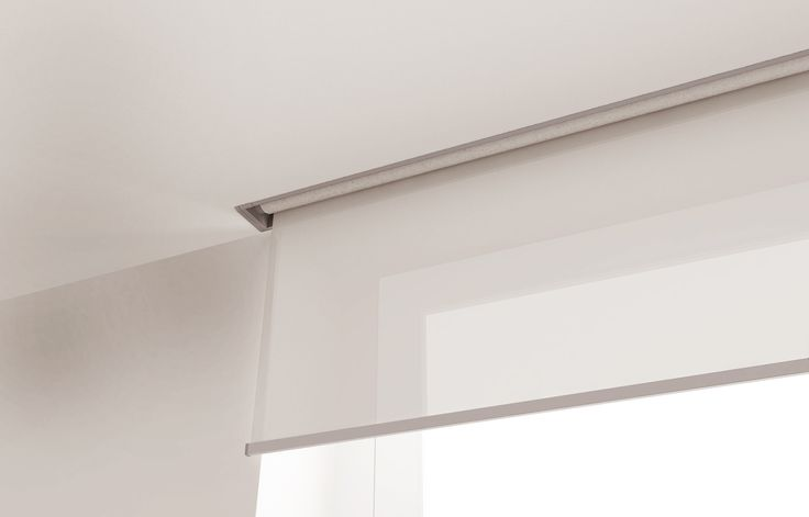 Recessed roller or solar shades are a great option for for Budget blinds motorized shades