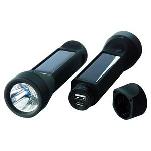 Solar Flashlight | Powerplus Salamander Solar or USB charged flashlight from Powerplus called the Salamander. Doubles up as a powerbank and will recharge an empty smart phone completely. http://purchase.ie/solar-flashlight
