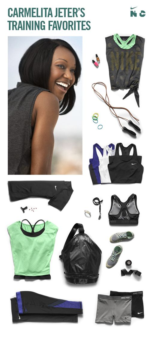 Carmelita Jeter's Training Favorites. #Nike