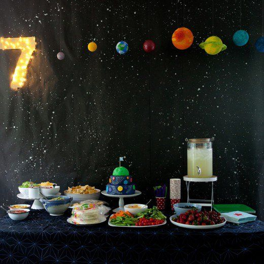 11 best images about kids outer space birthday party on for Cake decorations outer space