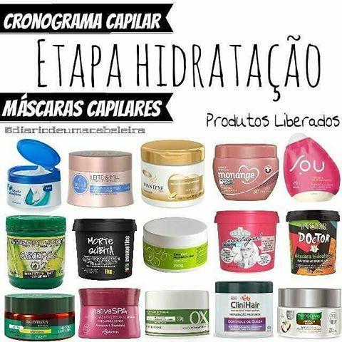 Post exclusivo com indicações de máscaras hidratantes para o Cronograma Capilar…