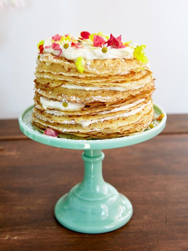Crepe cake recipe from Ramblin Rose Cafe.: