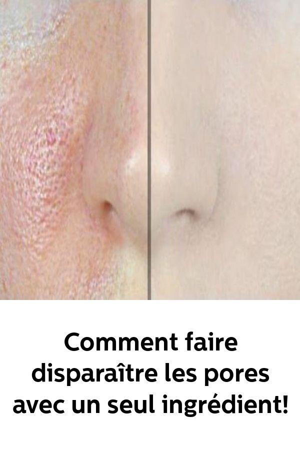 Comment faire disparaître les pores avec un seul ingrédient!
