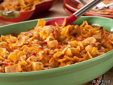 Corn Chip Chicken Casserole   mrfood.com