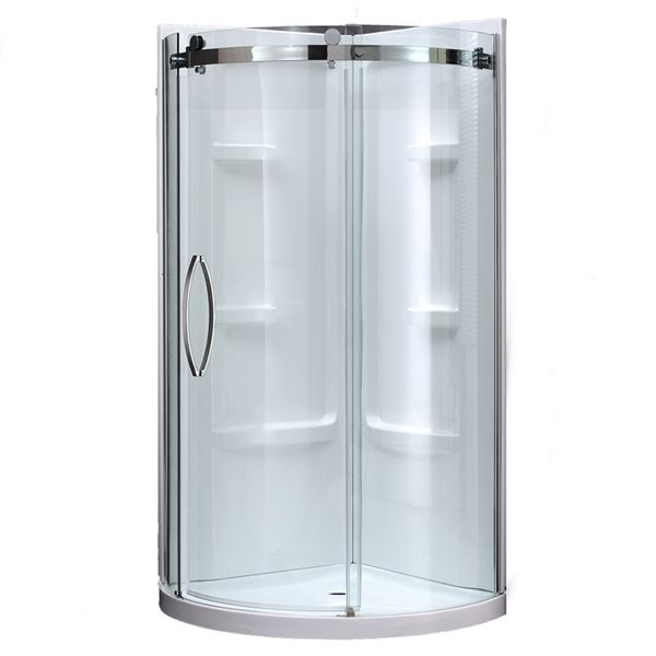 Shop JACUZZI  40-in W x 78.75-in H Caicos Chrome Round 3-Piece Corner Shower Kit at Lowe's Canada. Find our selection of shower stalls at the lowest price guaranteed with price match + 10% off.