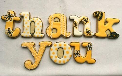 Thank you! #thankyou #alphabetcookies