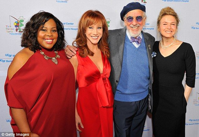 Left to right: Amber Riley,  Kathy Griffin, record producer Lou Adler and the lovely, grinning Renée Zellweger