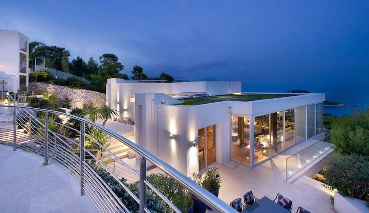 Villa Vista Mare overlooking Cap Ferrat on Cote d'Azur, France love the location and house. $50k a week rent