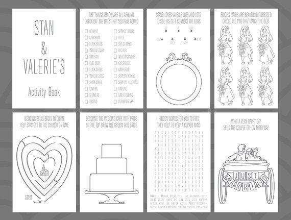 wedding activity book design by divertenti on etsy
