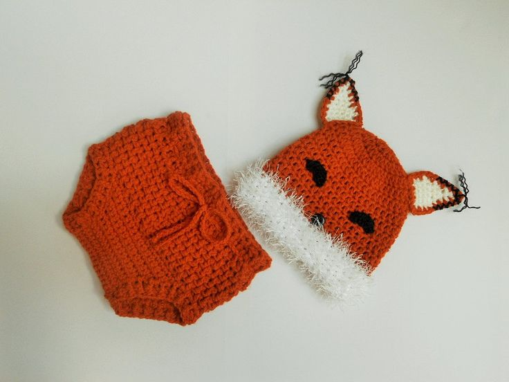 Baby fox hat and diaper cover, Crochet fox hat, Fox beanie, newborn photo prop, newborn fox hat, coming home outfit, baby clothes FOX UK by AdrisLittleCuties on Etsy https://www.etsy.com/listing/198836370/baby-fox-hat-and-diaper-cover-crochet