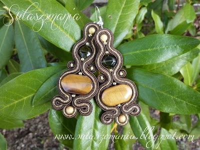 soutache earrings, sutasz kolczyki