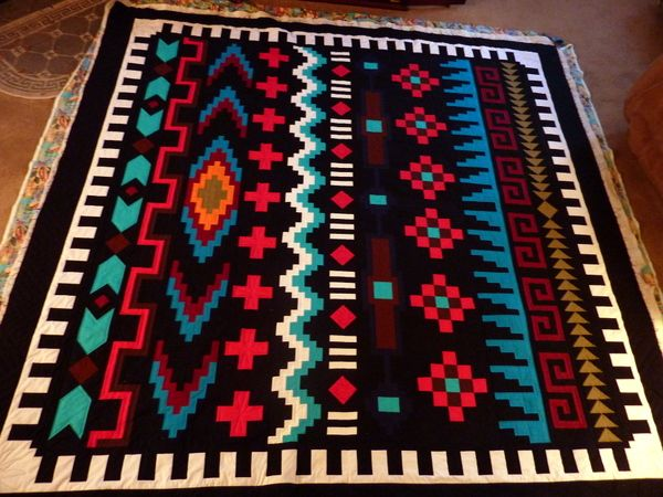NAVAJO SERAPE QUILT. Pattern available from http://www.swdecoratives.com/proddetail.php?prod=BOMnavajo