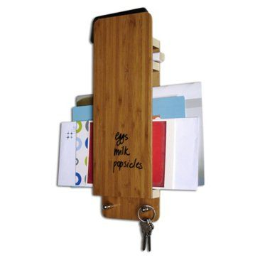 Check out this item at One Kings Lane! Dry-Erase Bamboo Entry Butlers, S/2