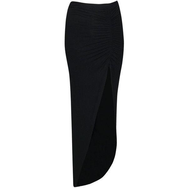 Boohoo Petite Michelle Viscose Maxi Skirt (910 RUB) ❤ liked on Polyvore