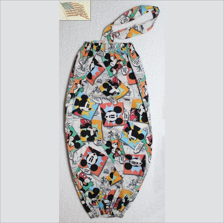 Plastic Bag/Grocery Bag Holder - Mickey Comics #E - Cotton by CUTESTUFF1 on Etsy