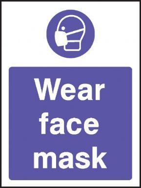 Wear face mask warning sign