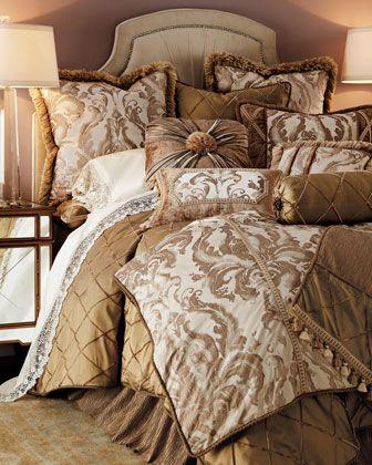 """Park Avenue"" Bed Linens by Dian Austin Couture Home at Horchow."
