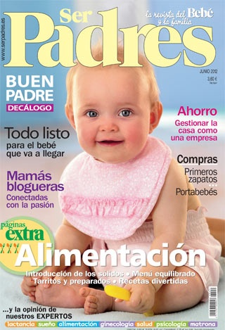Portada del número de junio de  la revista Ser Padres.