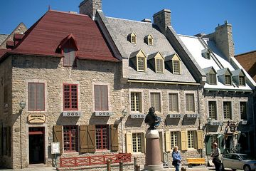 Place Royale Quebec -  oldest settlement buildings dating back to the 17th century.