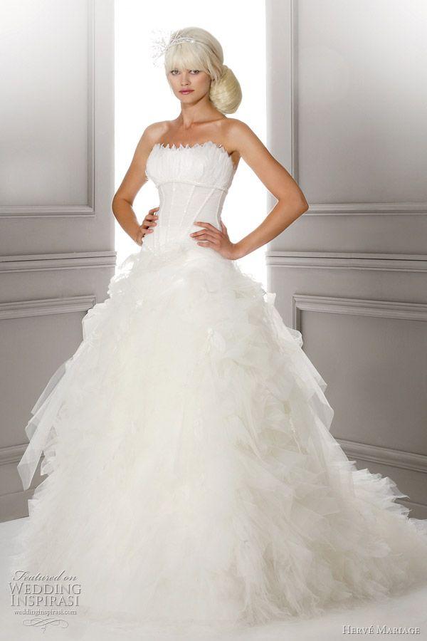 herve mariage luxe wedding dress - Herve Mariage Paris